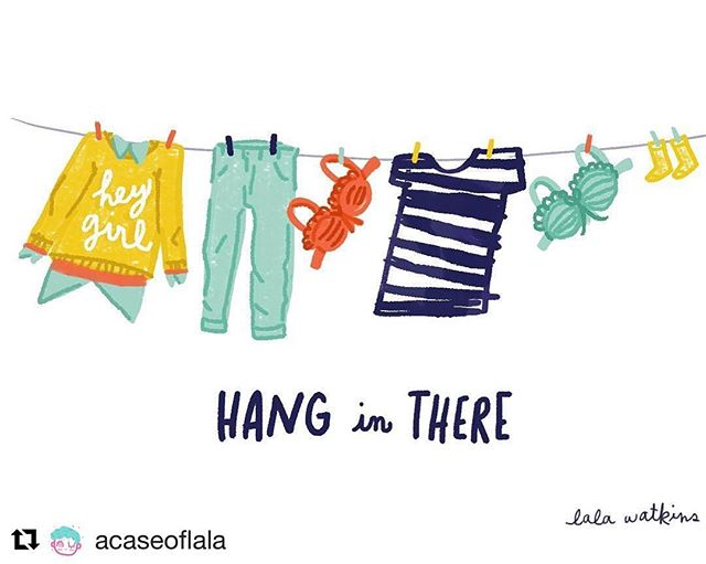 I have a personal Instagram where I post personal art and more fun stuff. Follow me! #Repost @acaseoflala (@get_repost) ・・・ Hang in there girl! It's gonna be alright. #lalawatkins #acaseoflala #ilustration #hanginthere