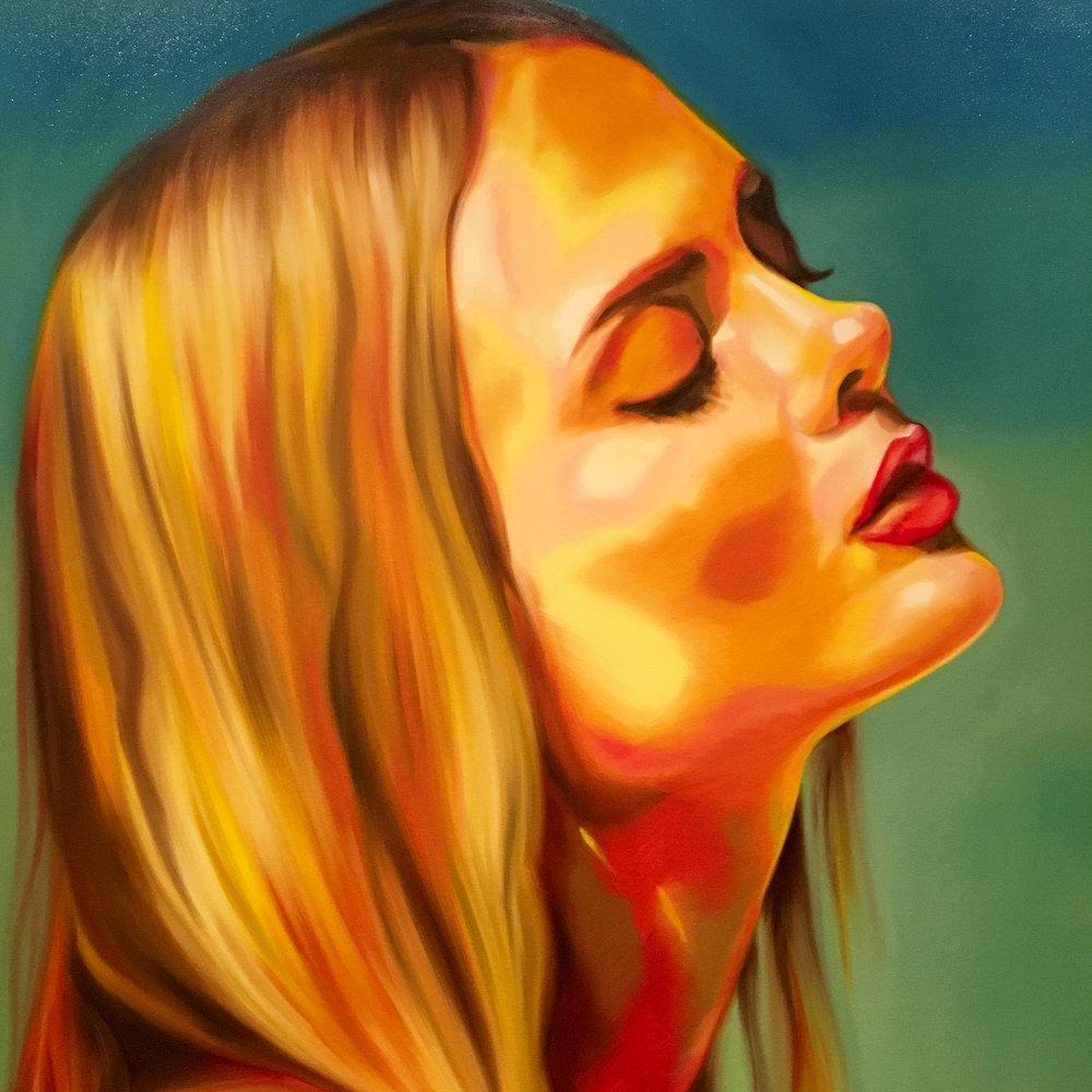 Ioanna Ntenti, oil on canvas, 100 x 100cm. Private commission, Dubai (UAE).