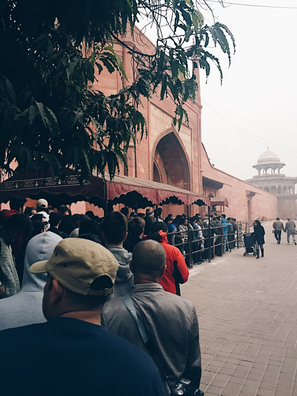 This is what some ATM lines looked like.. but haha this is the line for the Taj Mahal