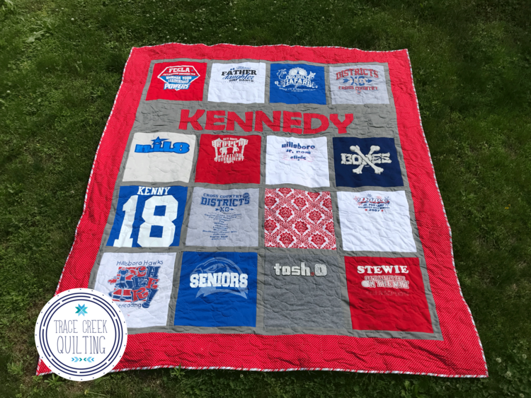 T Shirt Quilt Options And Pricing Chart Trace Creek Quilting