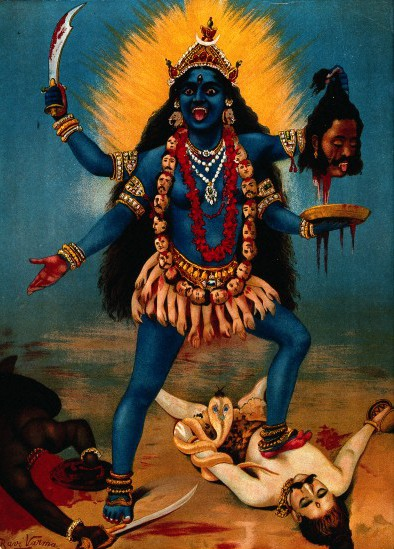 Traditional depiction of Kali.