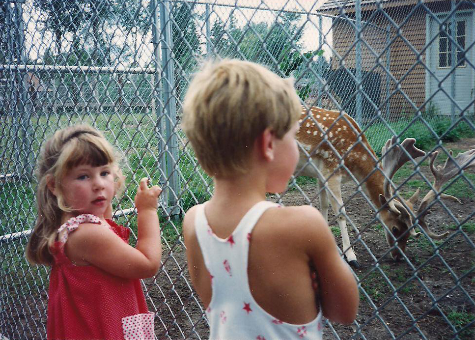 Young, sensitive little Ora, loving on her totem creature.