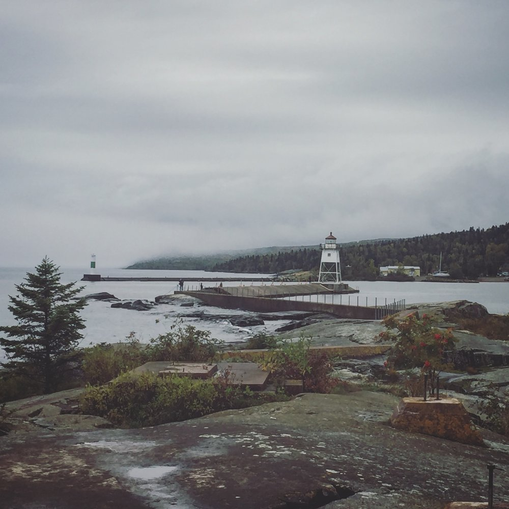 My new sleepy town of Grand Marais, Minnesota.