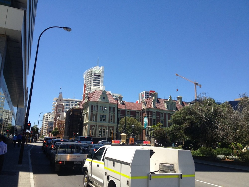 Perth is a boom town. There is an active crane on nearly every corner.