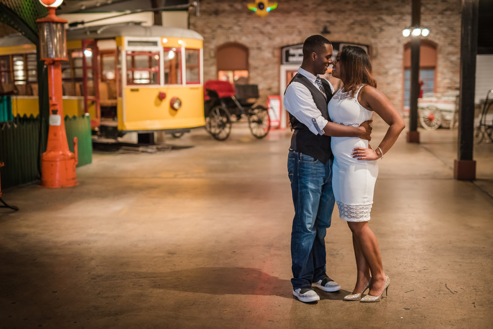 The gorgeous couple at the Museum of Commerce in Pensacola.