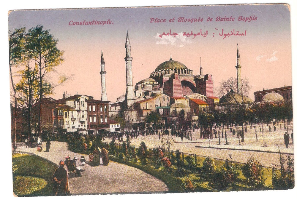 A postcard from Istanbul in the early 1900, when it used to be called Constantinople. Anonymous.