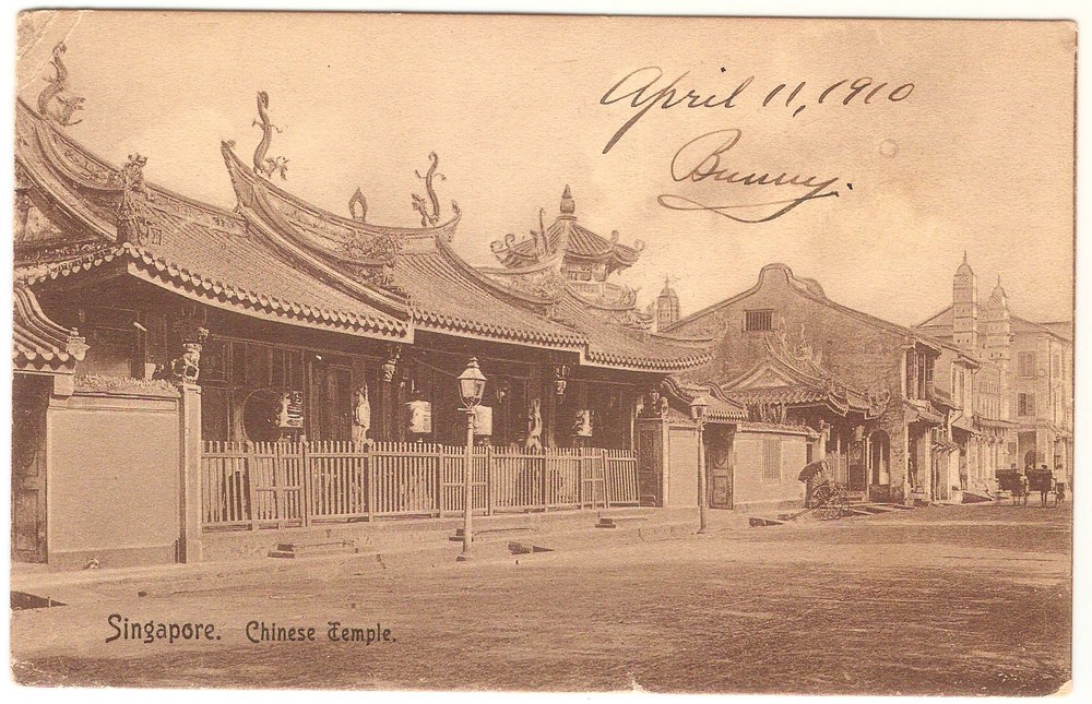 April 11, 1910. Singapore, Chinese Temple.