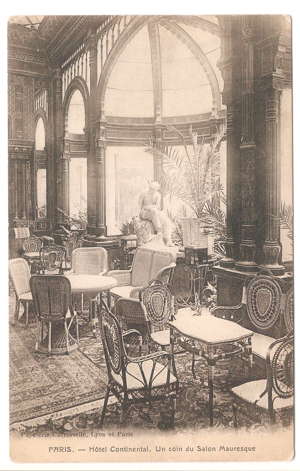 Hotel Continental, Paris. No date. Papelerie Universelle, Lyon et Paris.