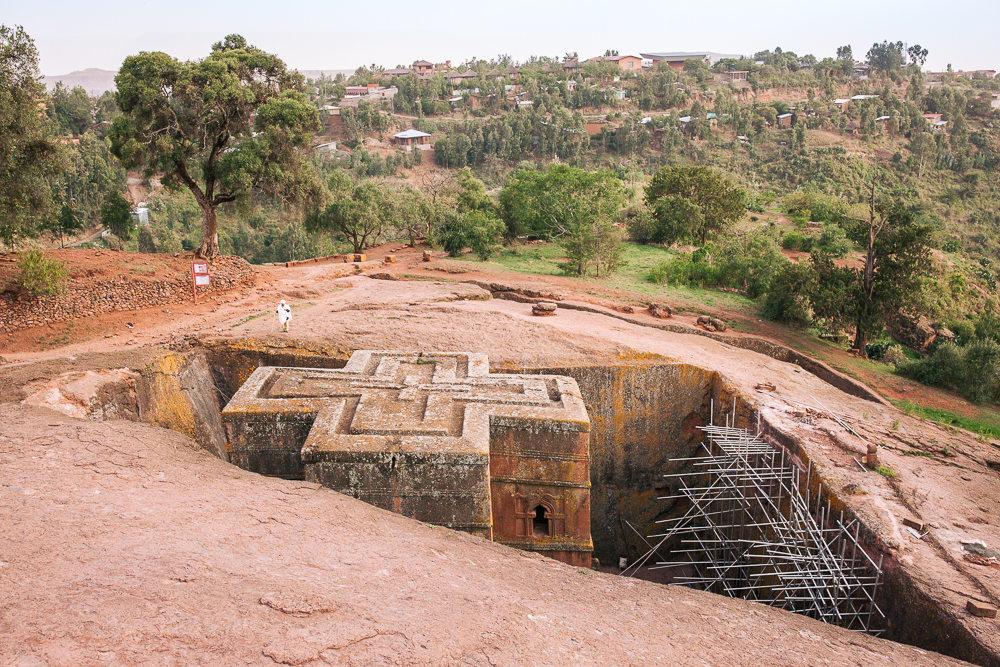"Lalibela - Ethiopia's ""Jerusalem"" and the crown-jewel of the noble north with outstanding rock-hewn churches from the 13th century."