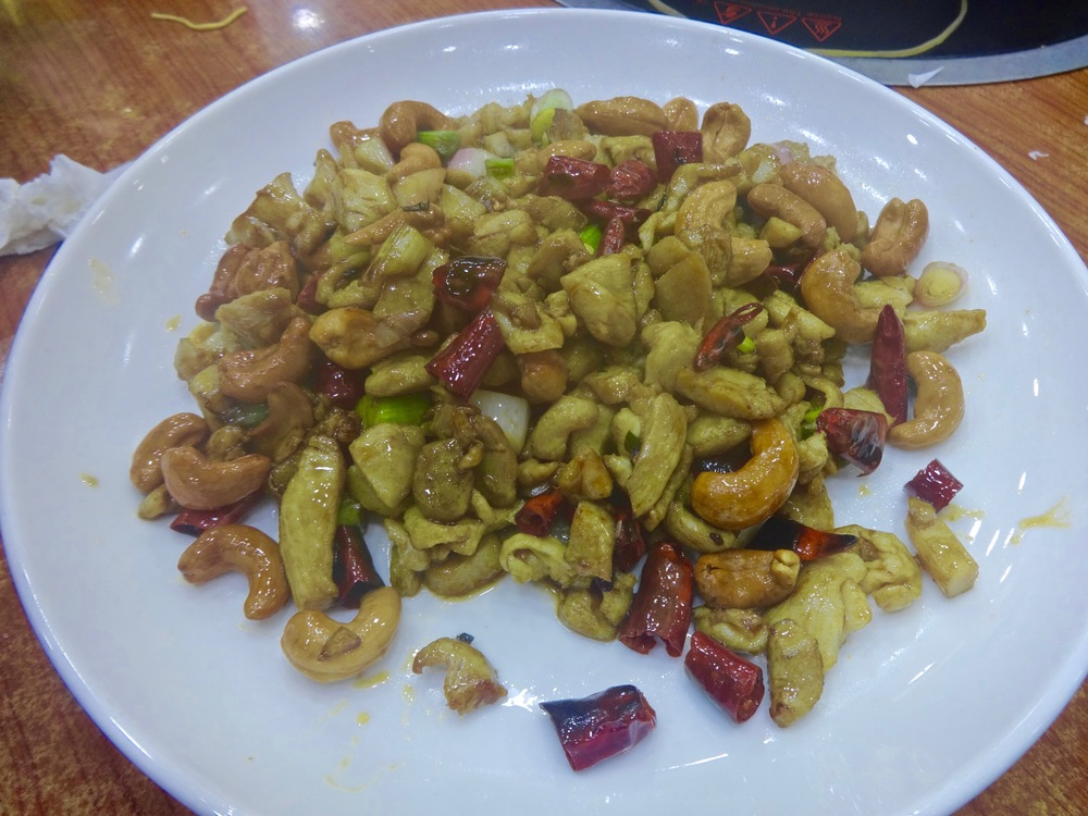 spicy chicken and nuts