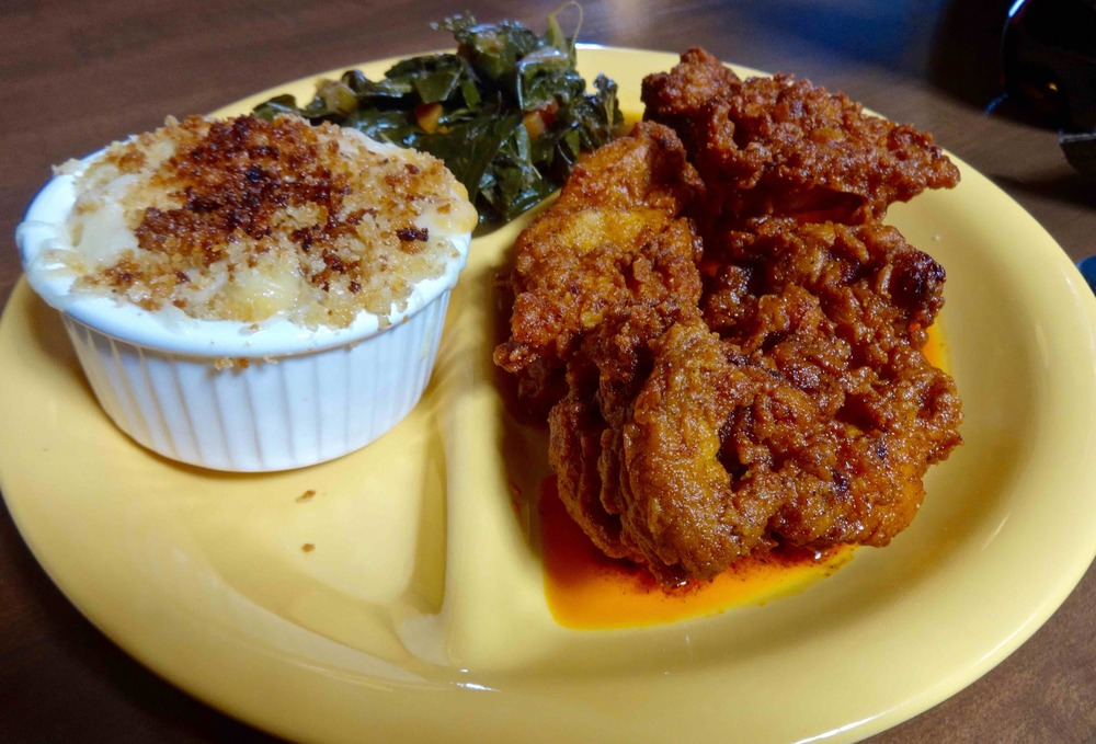 Nashville hot chicken with two sides