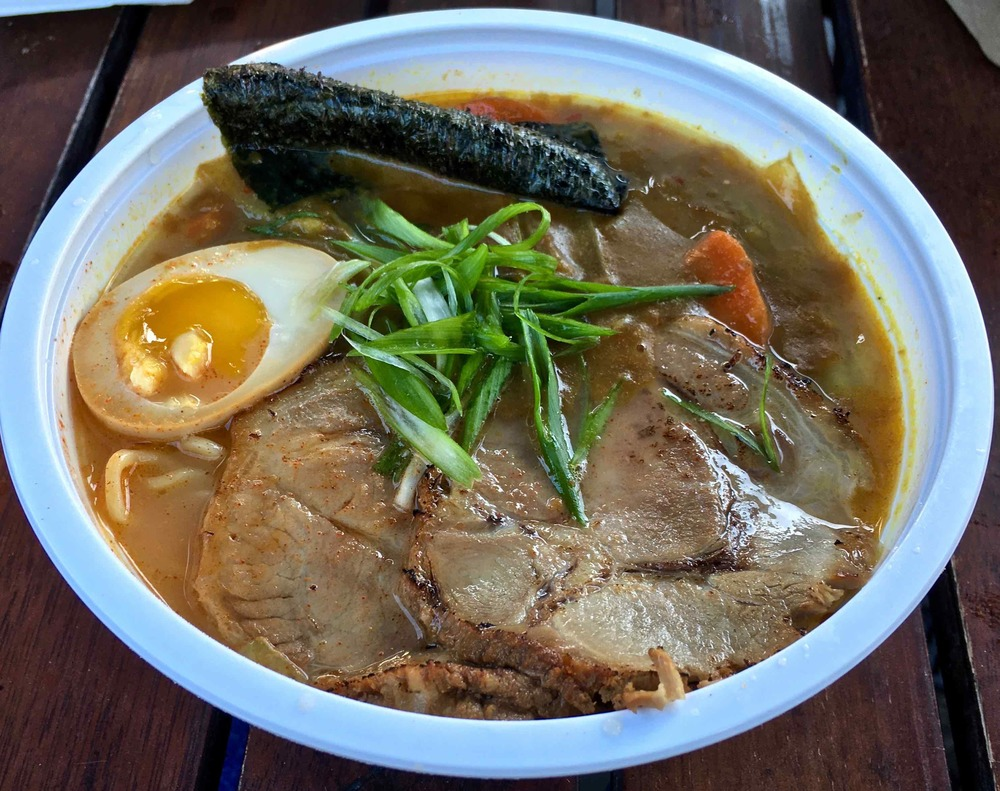 curry ramen with chashu