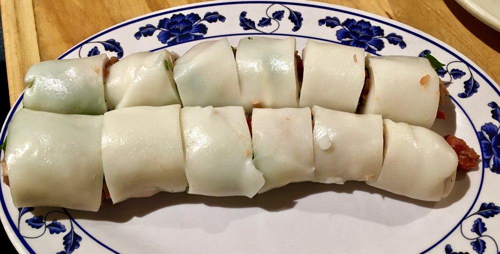 bbq pork rice noodle roll