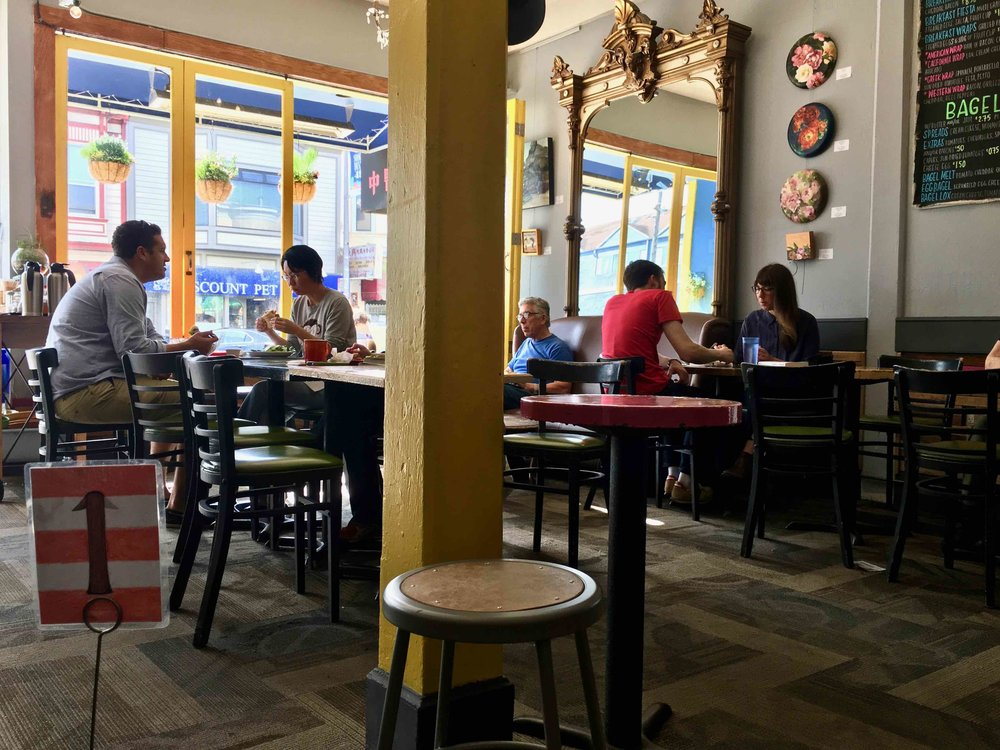 inside Blue Danube Coffee House