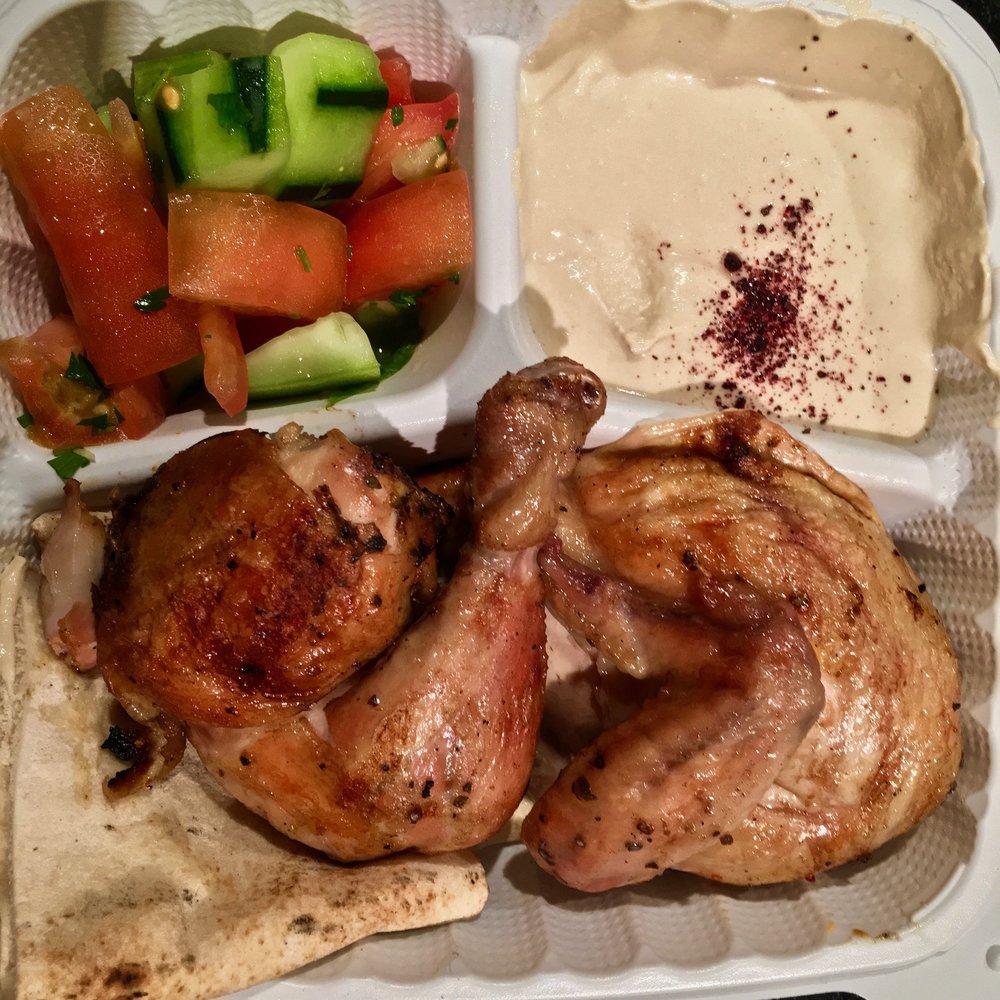 half a chicken meal