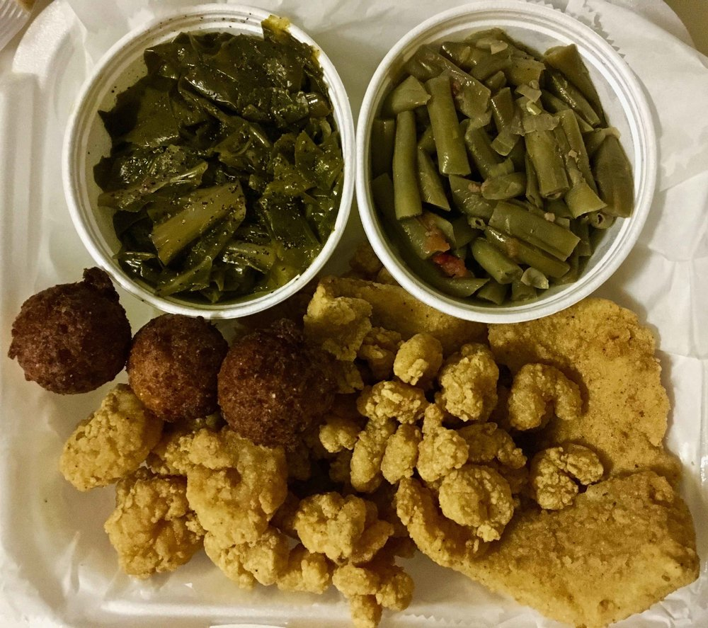fried fish and shrimp combo plate