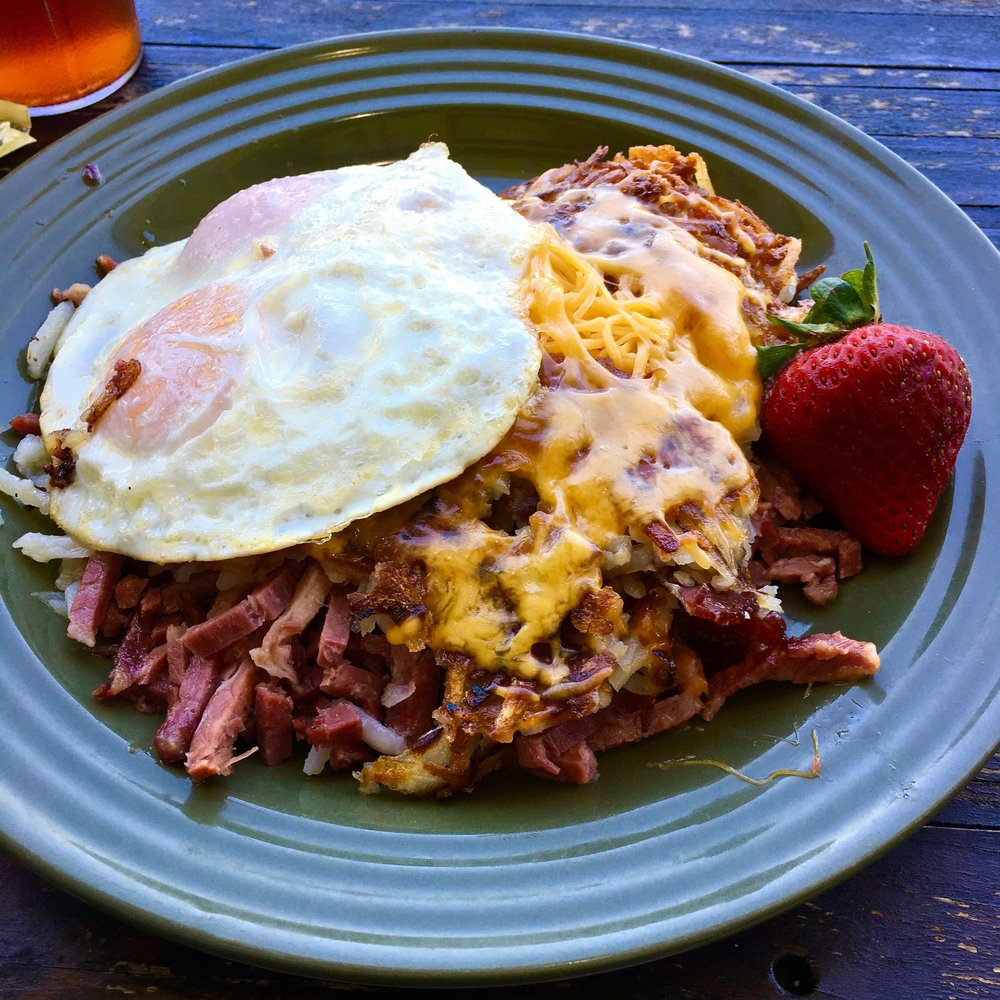 corned beef hash and eggs $12.75