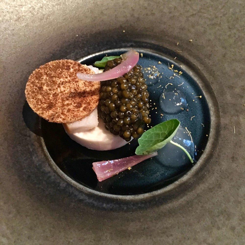 Royal Kaluga caviar with sablefish