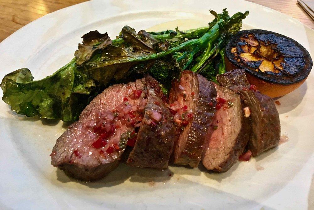 grilled steak $26.50