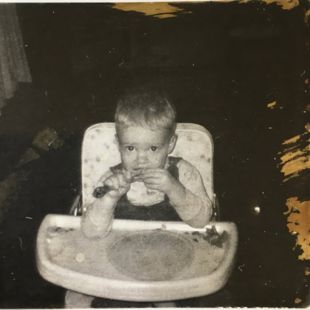 getting my fried chicken on at  very  early age, it was the South you know!