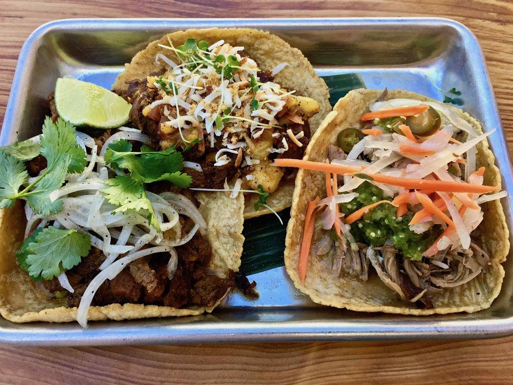beef and pork soft tacos