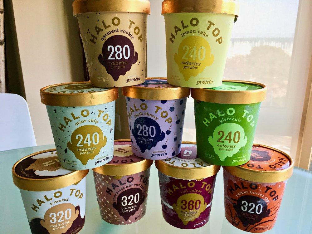 Halo Top ice creams