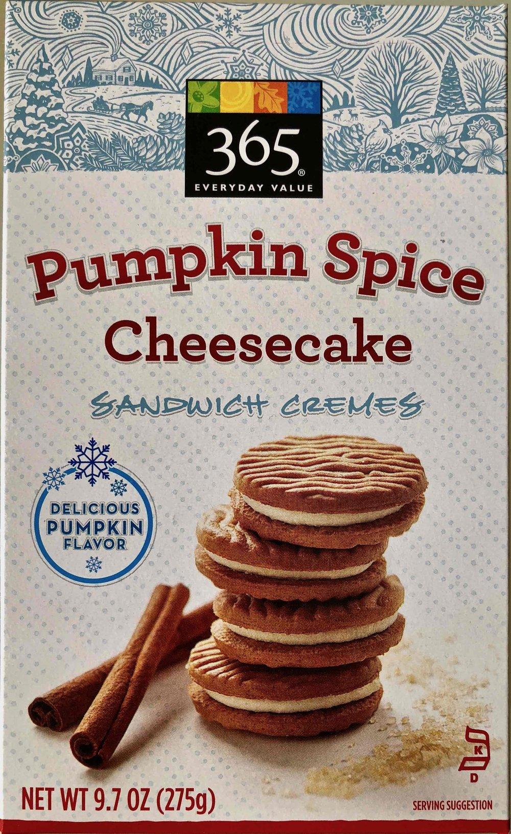 Pumpkin Spice Cheesecake Sandwich Cremes