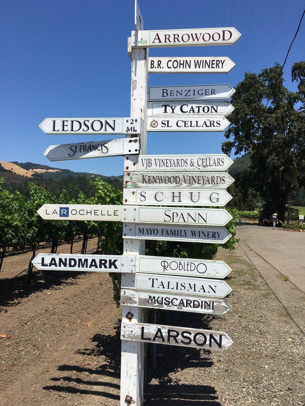 Napa and Sonoma Wineries