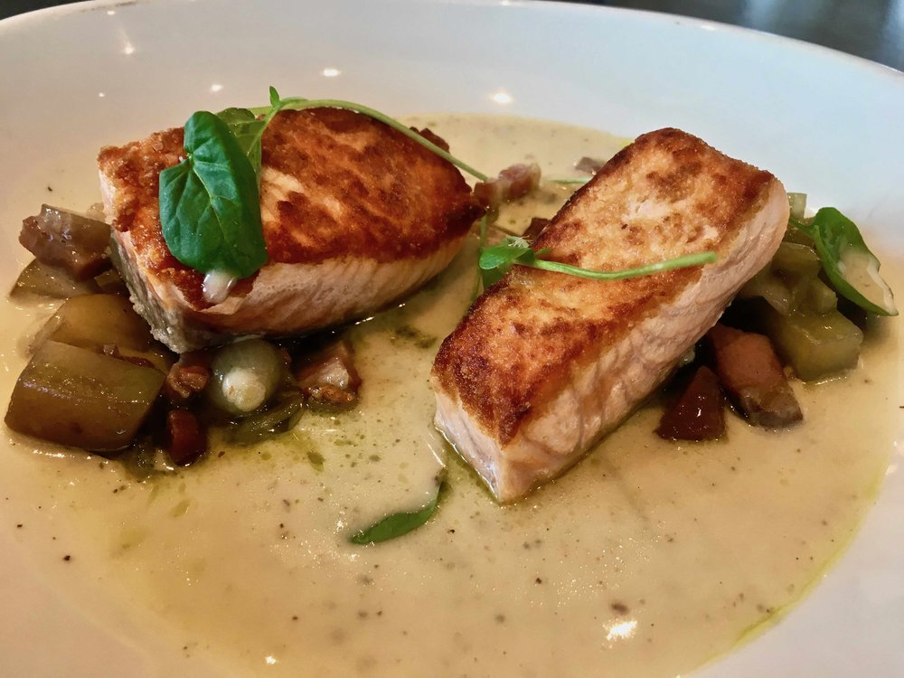 pan-roasted salmon $22