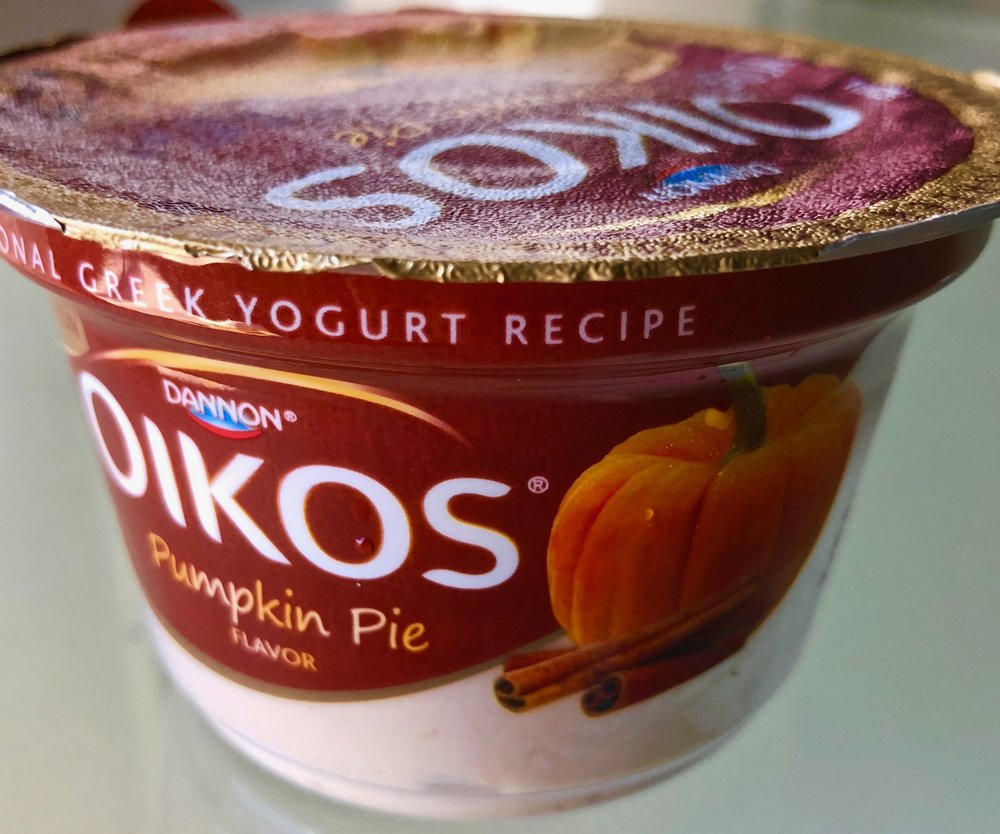Oikos pumpkin pie Greek yogurt