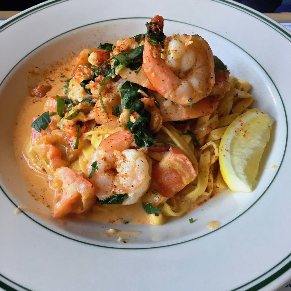crawfish and shrimp fettuccine $19