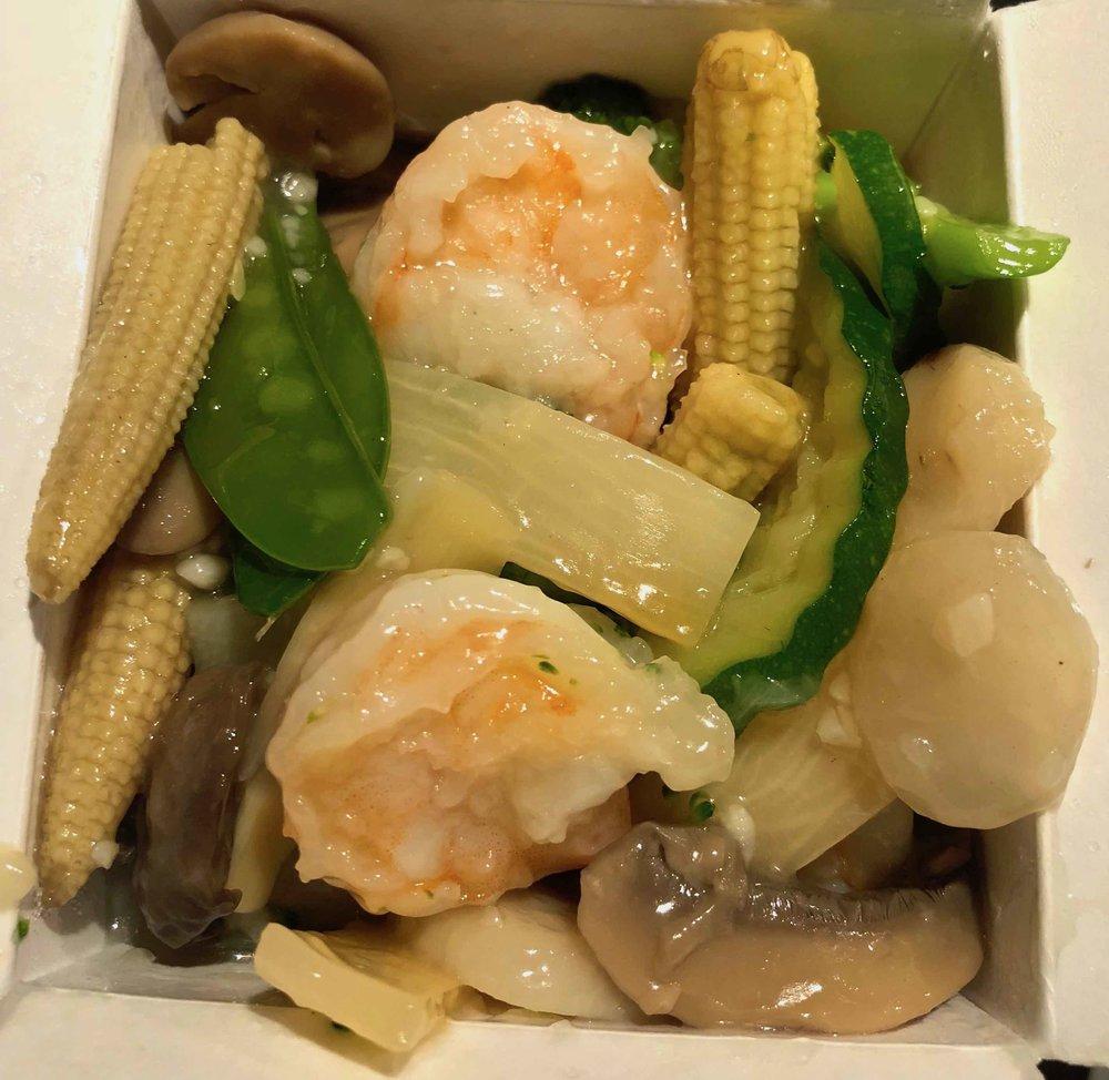 shrimp and vegetables $9.95