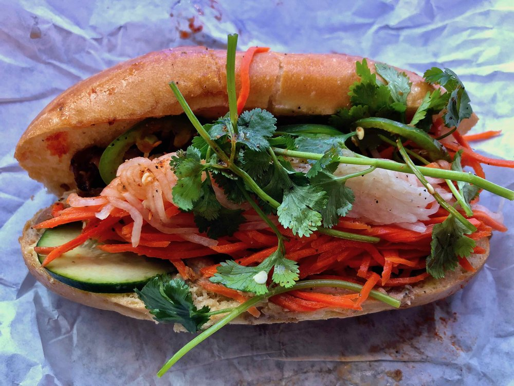 five spice chicken banh mi