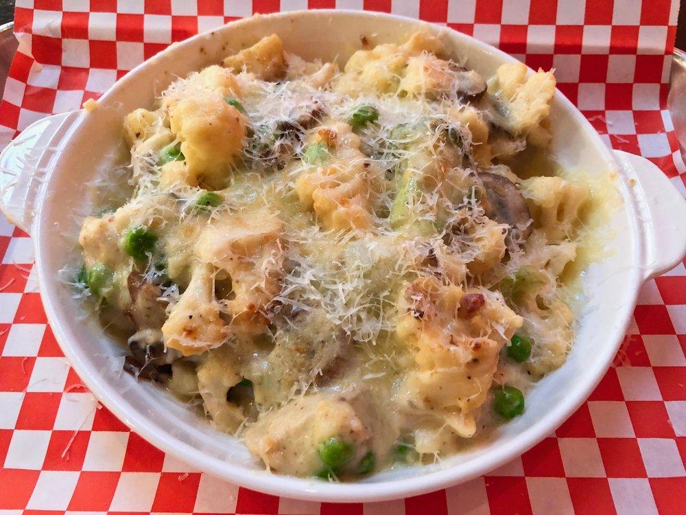 cauliflower mac and cheese $13
