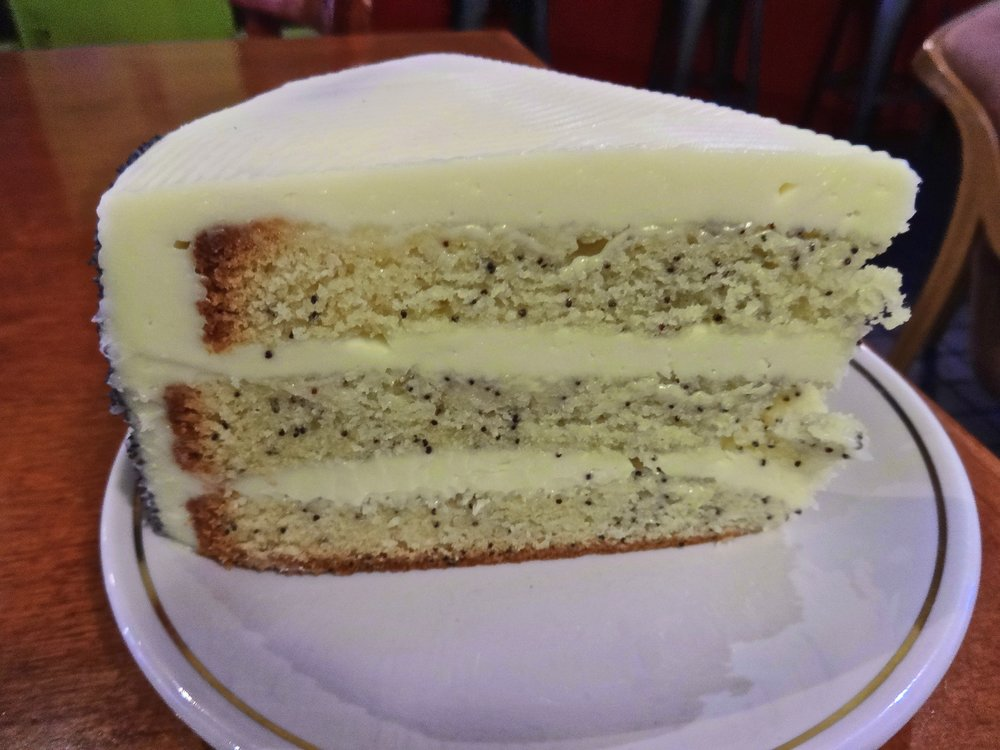 poppy seed cake with cream cheese icing
