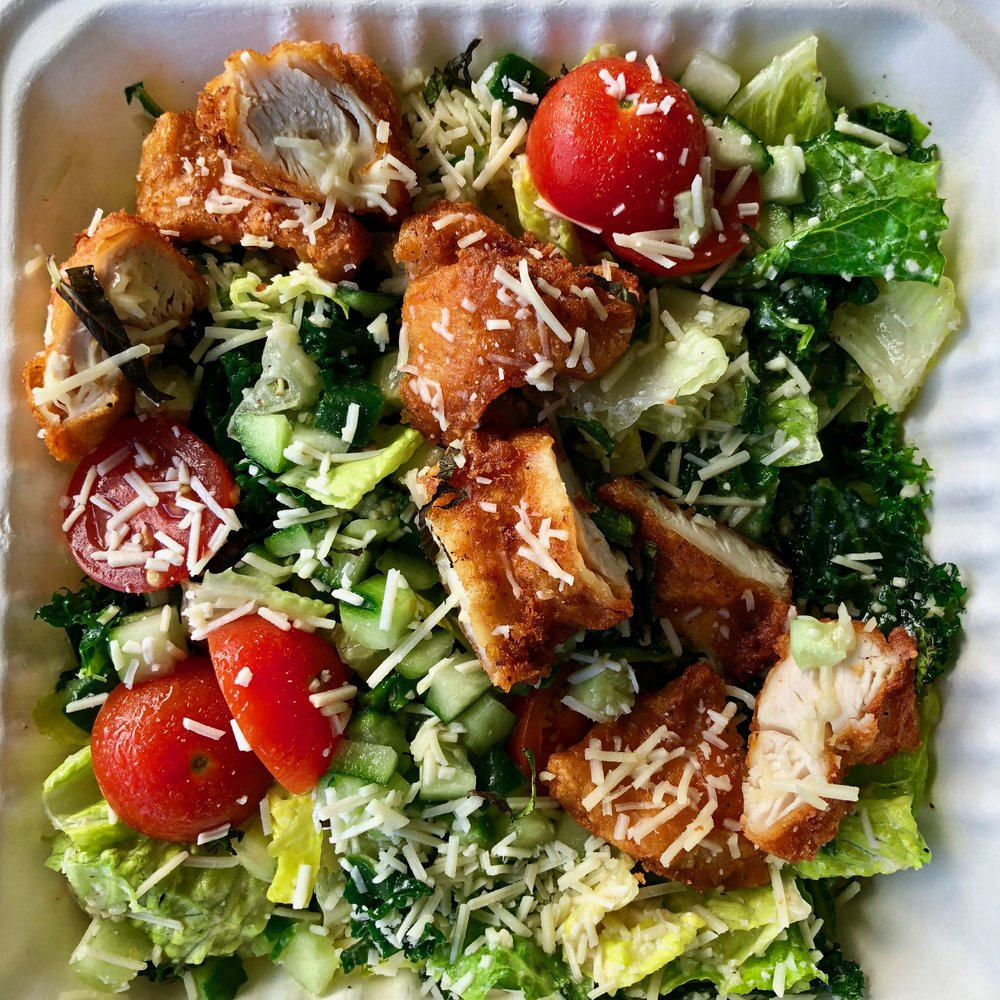 fried chicken salad $11.75