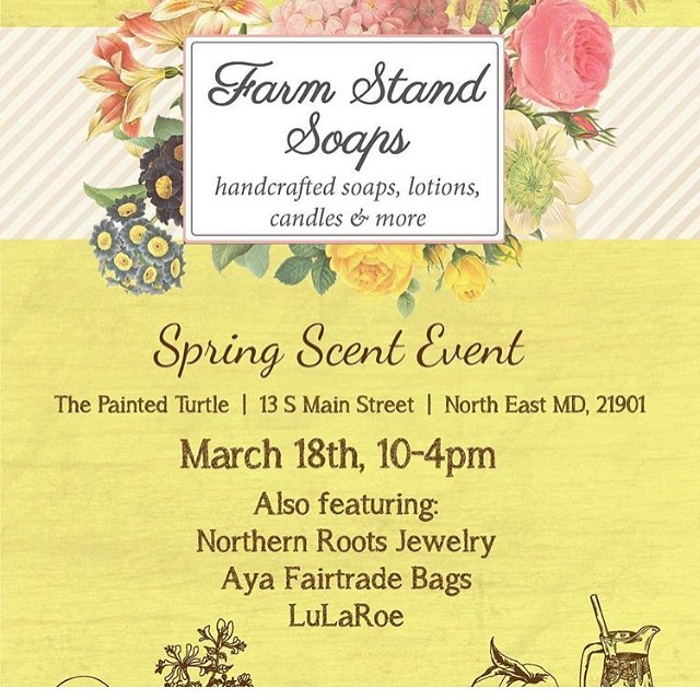 Looking forward to this spring show in Maryland! Check out @farmstandsoaps this Saturday!!