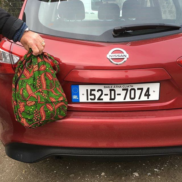Happy St. Patrick's day! Happy to see one of our bags made it across the pond to celebrate properly! ☘️ 🇨🇮#stpatricksday #ireland #fairtrade