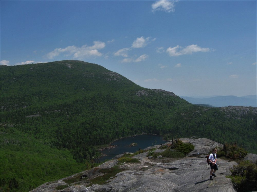 Tumbledown Pond from the ridge leading to Tumbledown Mountain (with Little Jackson in the background)