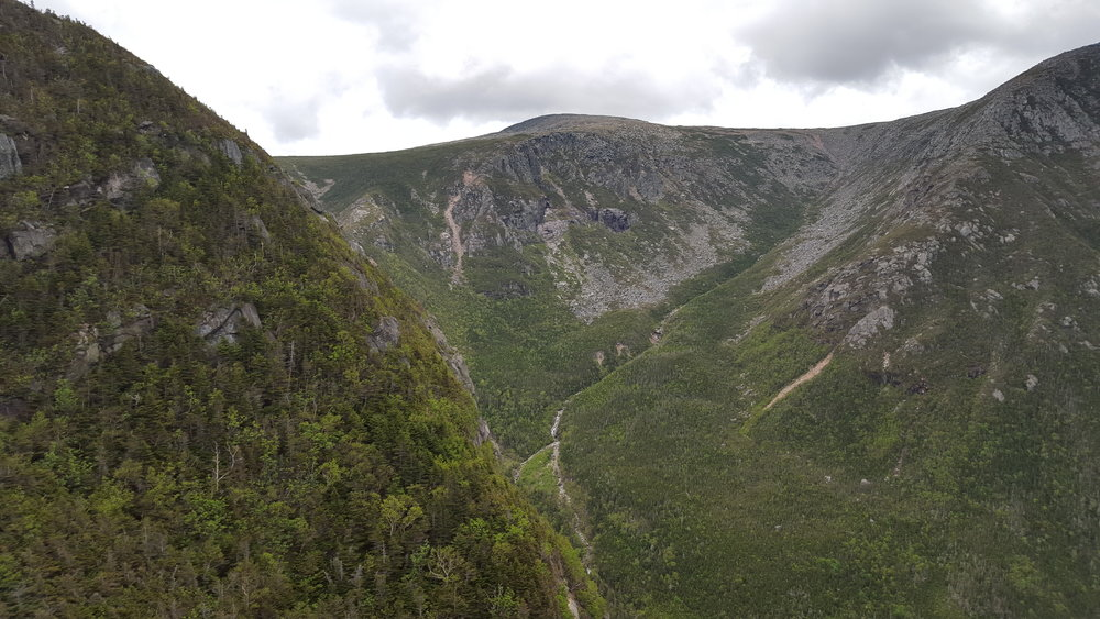 The head of Witherle Ravine (that's The Owl's summit on the left)