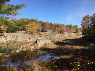 Cool rock canyon in Frontenac Park.