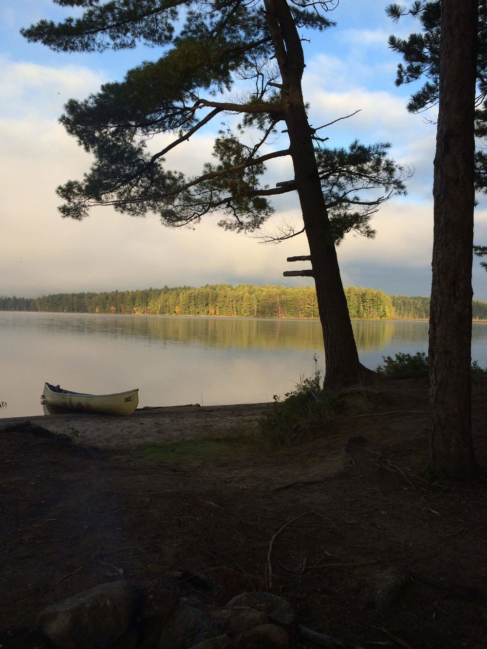 Sec Lake 2016 yellow canoe.JPG