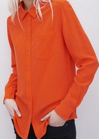 Silk Shirt -Orange/Red