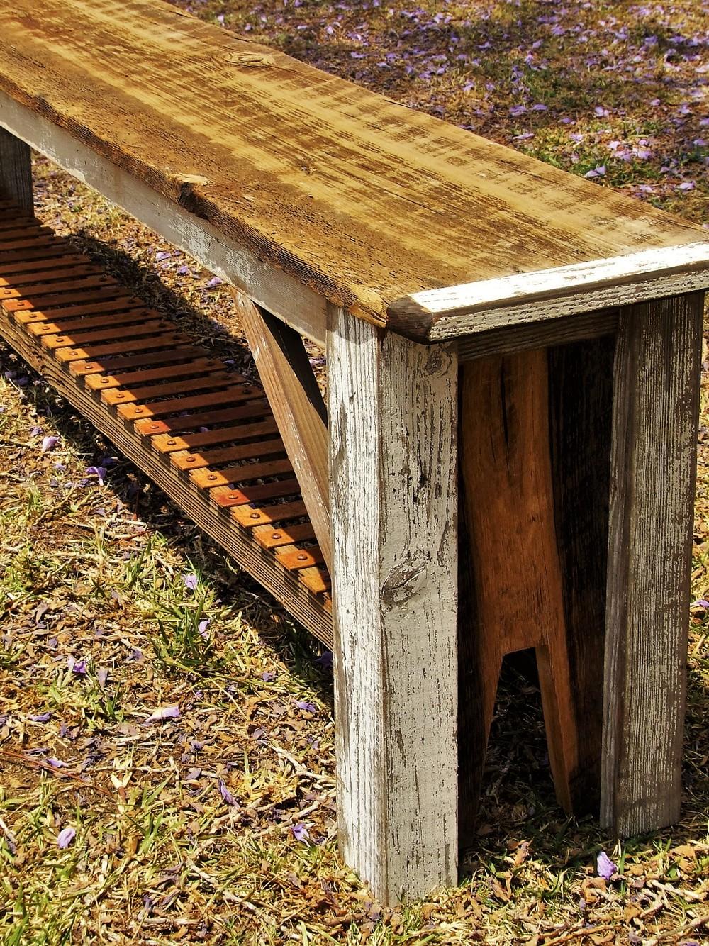 Reclaimed Barnwood Bench