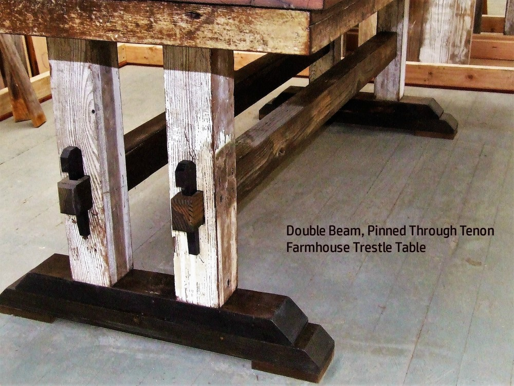 Old School Farmhouse Trestle Table