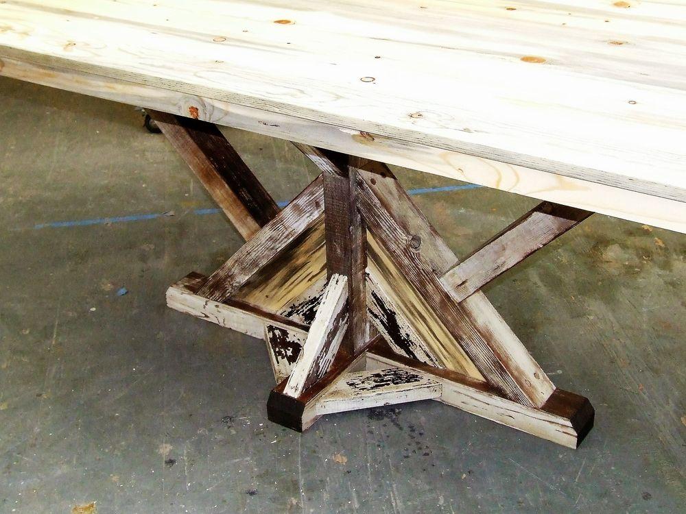 Reclaimed Farmhouse Pedestal Table