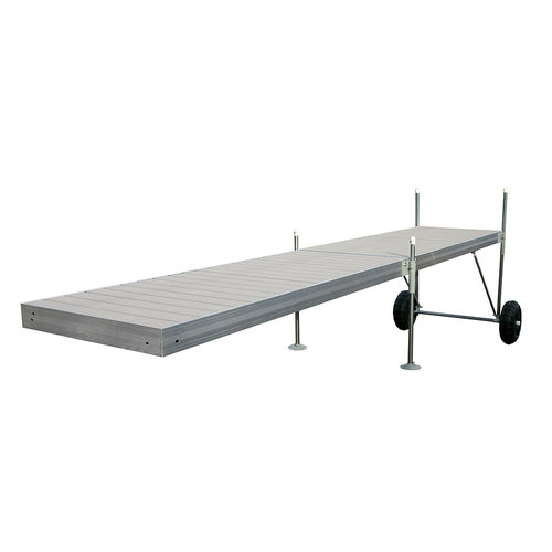 20 ft. Roll-In-Dock Straight Aluminum Frame with Removable Decking ...