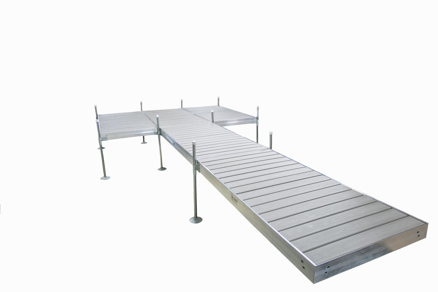 24 ft. L 8 ft. x 12 ft. Platform Style Aluminum Frame with Decking ...