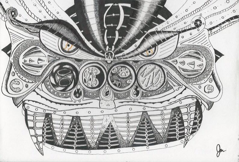 La máquina de máscara negra (The Black Mask Machine); Shogun Mutant Mask 1.jpeg