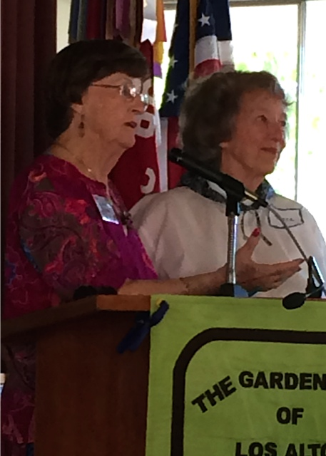 Scholarship chairwomen Jean Gillette and Dena Matson presented background! and future fundraising plans with a delightful enthusiasm